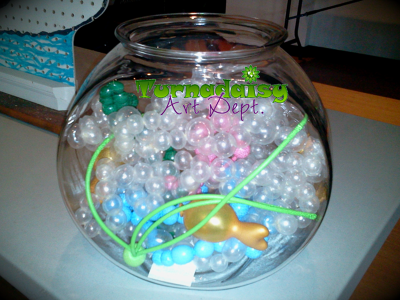 Balloon Filled Glass Fish Bowl Party