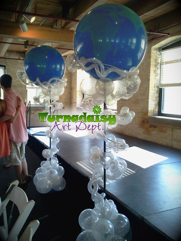 7 balloon stars around the world lighted columns for 7 star balloon decoration